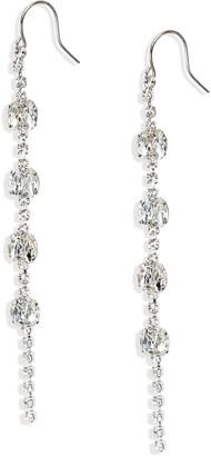 CRISTABELLE Crystal Linear Drop Earrings