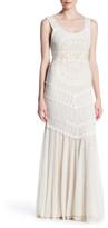 Alice + Olivia Kimberley Lace & Crochet Maxi Dress