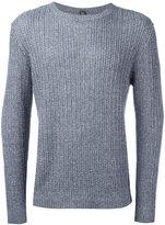 Eleventy ribbed knit jumper - men - Cotton/Linen/Flax - M