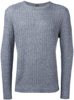 Eleventy ribbed knit jumper - men - Cotton/Linen/Flax - XL