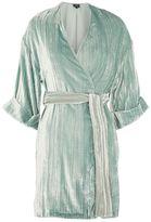 Topshop Velvet wrap kimono jacket