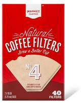 market pantry Natural Cone #4 Coffee Filters 40 Count