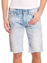 True Religion Faded Cotton Shorts