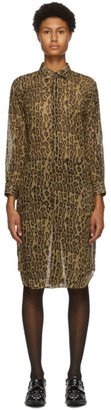 Junya Watanabe Brown and Black Leopard Print Dress