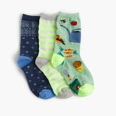 J.Crew Girls' neon ankle socks three-pack