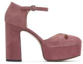 Marc Jacobs Pink Suede Lucille Platform Heels