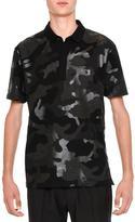 Valentino Tonal Camo-Print Polo Shirt, Black