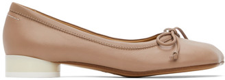 MM6 MAISON MARGIELA Pink Leather Ballerina Flats