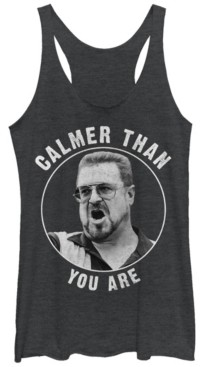 Fifth Sun Big Lebowski Calmer Than You Are Tri-Blend Racer Back Tank