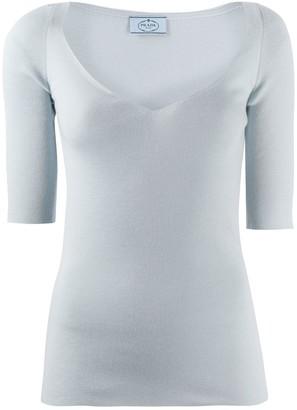Prada deep V-neck sweater