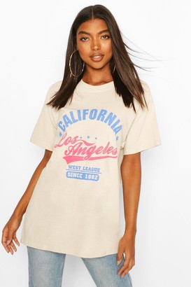 boohoo Tall 'California' Oversized T-Shirt