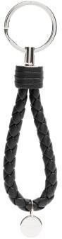 Bottega Veneta Intrecciato-woven Leather Key Ring - Mens - Black