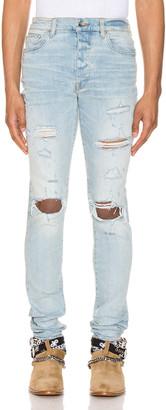 Amiri Thrasher Plus Jean in Light Crafted Indigo | FWRD