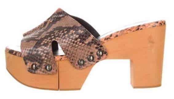 Clergerie Certrid Platform Sandals Orange Certrid Platform Sandals