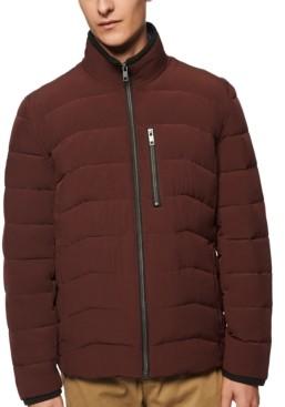 Andrew Marc Men's Carlisle Stretch Packable Moto Jacket