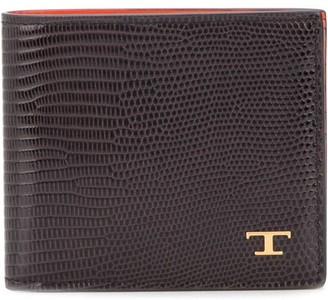 Tod's lizard skin-effect two-toned wallet