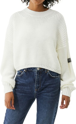 BDG Shaker Stitch Crop Sweater