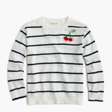 J.Crew Girls' striped popover sweater with cherries