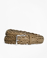 Brooks Brothers Leather Braided Belt