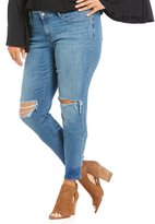 Levi's s Plus 711 Distressed Skinny Jeans