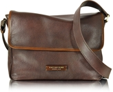 The Bridge Plume Mix Uomo Dark Brown Leather Messenger Bag