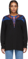 Marcelo Burlon County of Milan Black and Pink Wings Long Sleeve T-Shirt