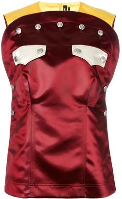 Calvin Klein front pockets blouse