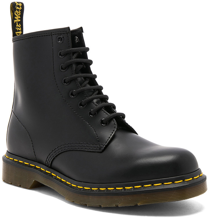 Dr. Martens 1460 8 Eye Leather Boots in Black | FWRD