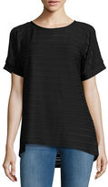 MICHAEL Michael Kors Ribbed Cold-Shoulder Tee