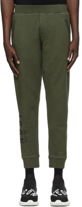 DSQUARED2 Green Icon Ski-Fit Lounge Pants