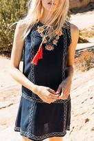 THML Clothing Sleeveless Tassel Dress