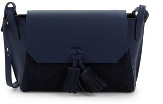 Longchamp Penelope Leather & Suede Crossbody Bag