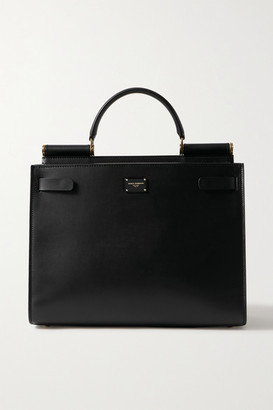 Dolce & Gabbana Sicily 62 Large Leather Tote - Black
