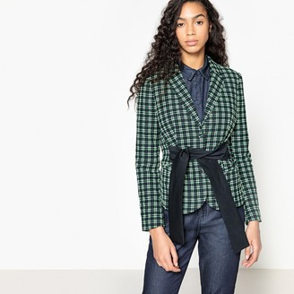 La Redoute Collections Checked Jacquard Jacket