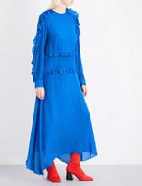 Preen Line Amata ruffled crepe maxi dress