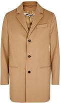 Mcq Alexander Mcqueen Curtis Camel Wool Blend Coat
