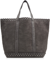 Vanessa Bruno Suede Tote with Stud and Eyelet Trim