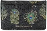 Alexander McQueen Peacock Print Cardholder