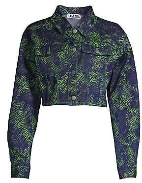 I.AM.GIA I.AM. GIA Women's Sinead Tiger Cropped Trucker Jacket