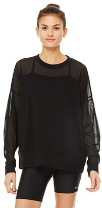 Alo Contoured Pullover (Black) Women's Sweatshirt