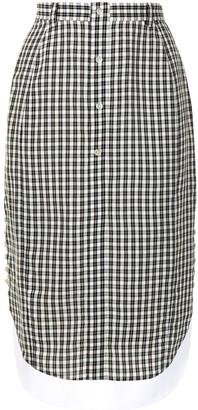 Altuzarra Gingham-Print Midi Skirt