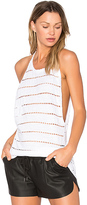 C&C California Kenzie Shirttail Sweep Tank in White
