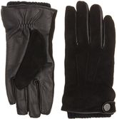 Kenneth Cole Black Suede And Leather Glove