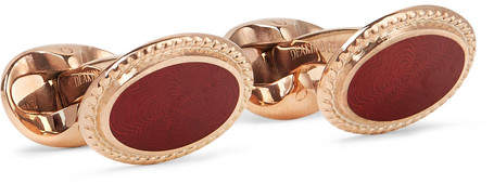 Deakin & Francis Kingsman Rose Gold-Plated Cufflinks - Men - Rose gold