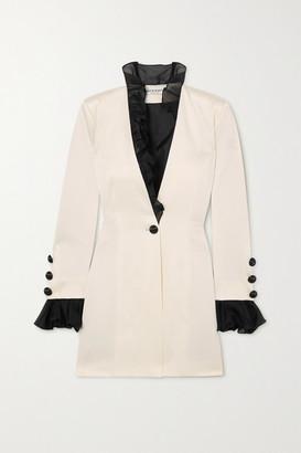 MARTIN MARTIN Marine Ruffled Silk Organza-trimmed Satin Mini Dress - Cream