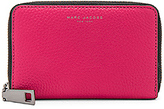 Marc Jacobs Gotham Saffiano Small Standard Wallet in Red.