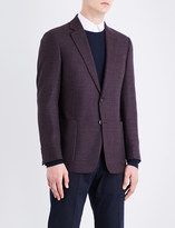 Armani Collezioni Single-breasted regular-fit wool jacket