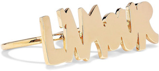 Valentino Gold-tone Two-finger Ring