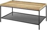 Hewson 42In Tray Coffee Table With Mesh Metal Shelf