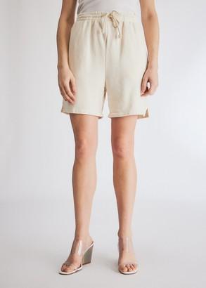 Which We Want Women's Juliana Sweat Short in Ivory, Size Medium | 100% Cotton